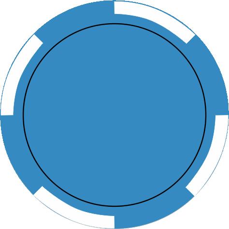 4-Spot hellblau
