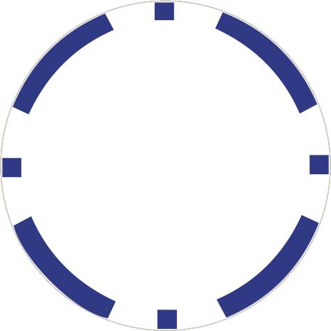 8-Stripe Dunkelblau